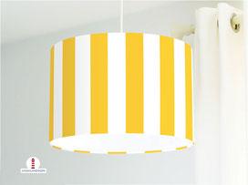 Lampe gestreift Kinderzimmer in Gelb aus Baumwollstoff - alle Farben möglich