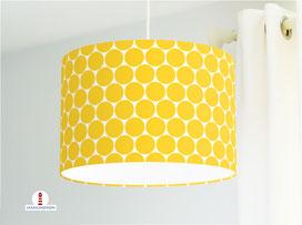 Lampe für Kinderzimmer mit großen Punkten in Gelb aus Bio-Baumwolle - alle Farben möglich