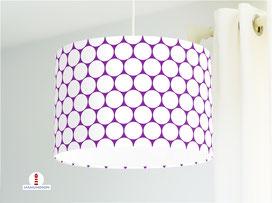 Lampe Kinderzimmer Punkte in Lila aus Bio-Baumwolle - alle Farben möglich