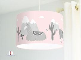 Lampe Lamas für Mädchen und Kinderzimmer aus Bio-Baumwolle - alle Farben möglich