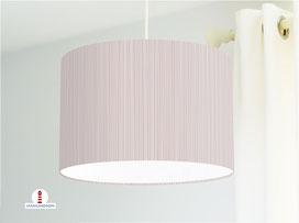 Lampe Schlafzimmer Streifen altrosa dunkel maritim aus Bio-Baumwolle - alle Farben möglich