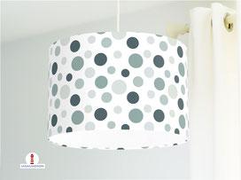 Lampe Kinderzimmer gepunktet Salbei Mint aus Baumwollstoff - alle Farben möglich