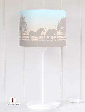 Tischlampe Pferde Mädchen aus Baumwolle - alle Farben möglich