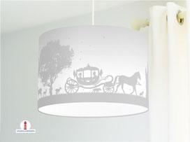 Lampe Kinderzimmer Mädchen Prinzessin Grau aus Baumwollstoff - alle Farben möglich