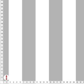 Bio-Stoff mit breiten Streifen in Grau und Weiß aus Baumwolle zum Nähen - alle Farben möglich