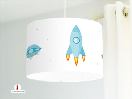 Lampe Weltraum Kinderzimmer aus Baumwollstoff - alle Farben möglich