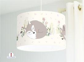 Lampe Kinderzimmer Fuchs Hase Reh aus Bio-Baumwolle - alle Farben möglich