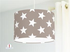 Lampe Sterne Kinderzimmer aus Baumwolle - alle Farben möglich
