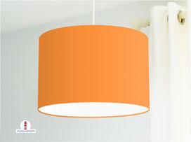Lampenschirm in Orange einfarbig aus Baumwollstoff - viele weitere Farben
