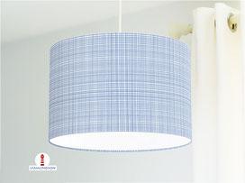 Lampe für Küche und Schlafzimmer mit Karo Muster maritim aus Bio-Baumwolle - alle Farben möglich