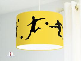 Lampe für Jungs und Kinderzimmer Fußball Schwarz auf Gelb aus Bio-Baumwolle - alle Farben möglich