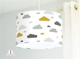 Lampe Kinderzimmer Wolken aus Bio-Baumwollstoff - alle Farben möglich