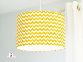 Lampe Kinderzimmer Zick Zack Muster in Gelb aus Baumwolle - alle Farben möglich