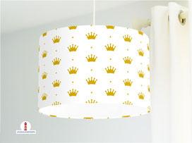 Lampe Kinderzimmer Mädchen Prinzessin Krone aus Baumwollstoff - alle Farben möglich