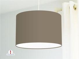 Lampenschirm in Graubraun einfarbig aus Baumwollstoff