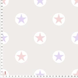 Stoff Sterne Kinderzimmer in Altrosa und Flieder zum Nähen aus Baumwolle - alle Farben möglich