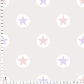 Bio-Stoff Sterne Kinderzimmer in Altrosa und Flieder zum Nähen aus Baumwolle - alle Farben möglich