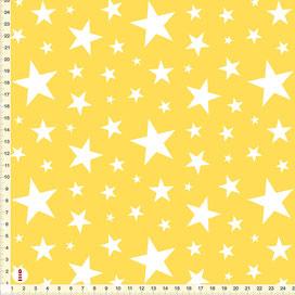 Bio-Stoff Sterne Kinderzimmer zum Nähen - alle Farben möglich