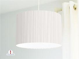 Lampe für Küche und Schlafzimmer mit Streifen in Beige aus Bio-Baumwolle - alle Farben möglich