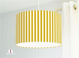 Lampe gestreift Babyzimmer Senfgelb aus Bio-Baumwolle - alle Farben möglich