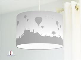 Lampe für Schlafzimmer mit Heißluftballons in Grau - alle Farben möglich