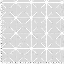 Bio-Stoff für Wohnzimmer und Schlafzimmer mit Muster in Grau zum Nähen aus Baumwolle - alle Farben möglich