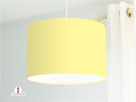 Lampenschirm in Hellgelb einfarbig aus Baumwollstoff