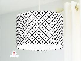 Lampe für Küche und Wohnzimmer mit Muster in Schwarz-Weiß aus Baumwollstoff - alle Farben möglich