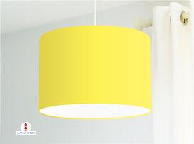 Lampenschirm in Gelb einfarbig aus Baumwollstoff