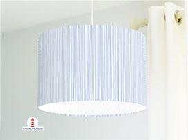 Lampe für Küche und Schlafzimmer mit Streifen maritim aus Bio-Baumwolle - alle Farben möglich