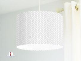 Lampe Strickmuster geometrisch in Hellgrau aus Baumwollstoff - alle Farben möglich