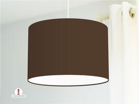 Lampenschirm in Braun einfarbig aus Baumwollstoff