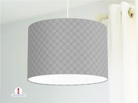 Lampe Muster Schlafzimmer geometrisch in Grau aus Bio-Baumwolle - alle Farben möglich