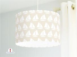 Lampe Kinderzimmer Schiff Sand aus Baumwollstoff - alle Farben möglich