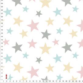 Stoff Kinderzimmer Sterne Pastell aus Baumwollstoff - alle Farben möglich