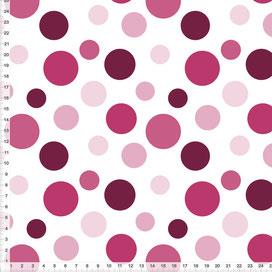 Stoff gepunktet in Beere und Weiß  Nähen Kinderzimmer - andere Farben möglich