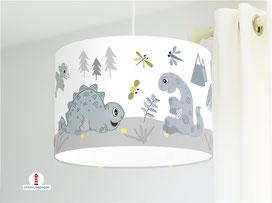 Lampe Dinosaurier Kinderzimmer aus Bio-Baumwollstoff - alle Farben möglich