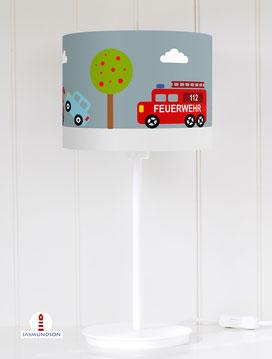 Tischlampe Kinderzimmer Autos aus Baumwolle - alle Farben möglich