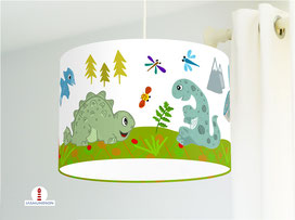 Lampe Kinderzimmer Dinosaurier aus Bio-Baumwollstoff
