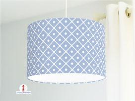 Lampe für Küche und Wohnzimmer mit Muster in Grau-Blau aus Baumwollstoff - andere Farben möglich