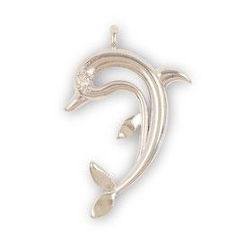 ciondolo delfino biancopunto jewels