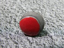 bague céramique raku rouge et noire