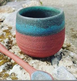 Bol et cuillère en céramique