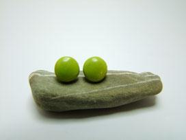 puces d'oreilles en céramique verte