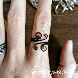 Wire-wrapped rings come in many styles; this is just a personal fave. I love that it's adjustable!
