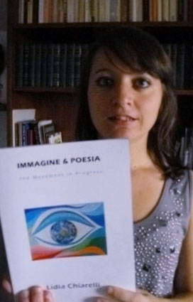 Stefania L. delivering the book to the National Library of Malta