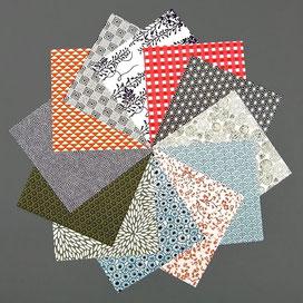 Origami Papier Set - verschiedene Chiyogami Blätter 15x15 cm