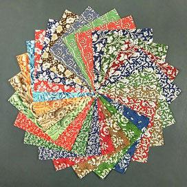 Origami Papier Set - verschiedene Carta Varese Blätter 15x15 cm