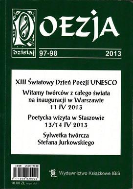 """Poesie, Essay / Literaturzeitschrift """"POESIE heute"""", Nr.97-98, IBiS, Warschau, Polen 2013"""