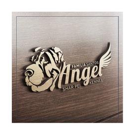shar pei kennel usa; shar pei kennel Santos familia angel USA; shar pei kennel logo design; PRS LA BEAUTY; PR Studio LA BEAUTY; creative dog logo design;